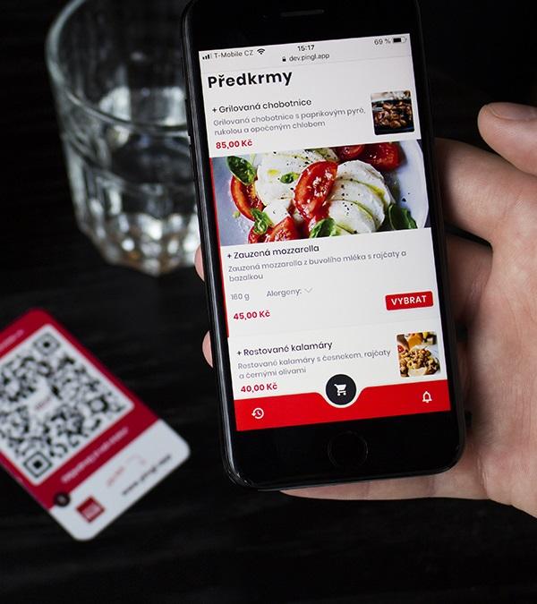 Webová aplikace Pingl objedná v restauraci na pár kliknutí a bez čekání